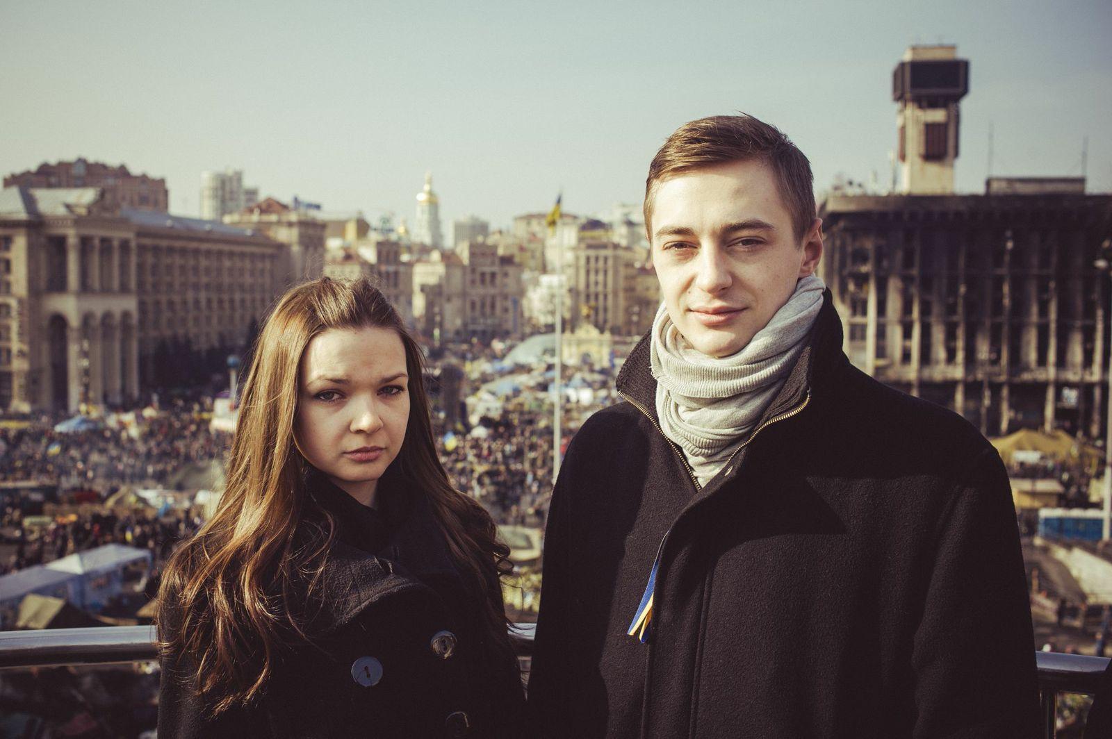 EINMALIGE VERWENDUNG Maidan/ Reportage
