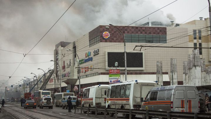 Russland: Brandkatastrophe im Shoppingcenter