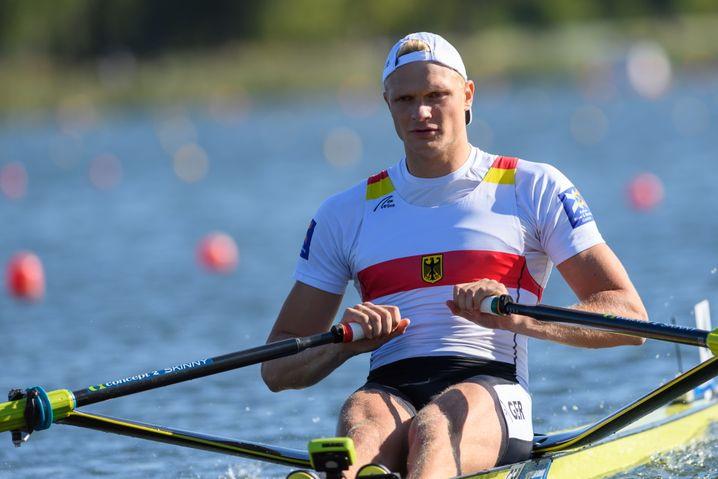 Oliver Zeidler verpasste im Einer eine Medaille trotz Führung