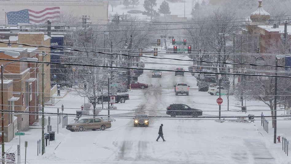 Schnee in Rapid City, South Dakota