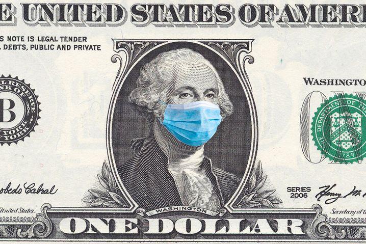 Die USA jetzt doch mit Maske: Präsident Donald Trump hat diese Woche ein überraschendes Bekenntnis zur Mund-Nasen-Bedeckung abgegeben