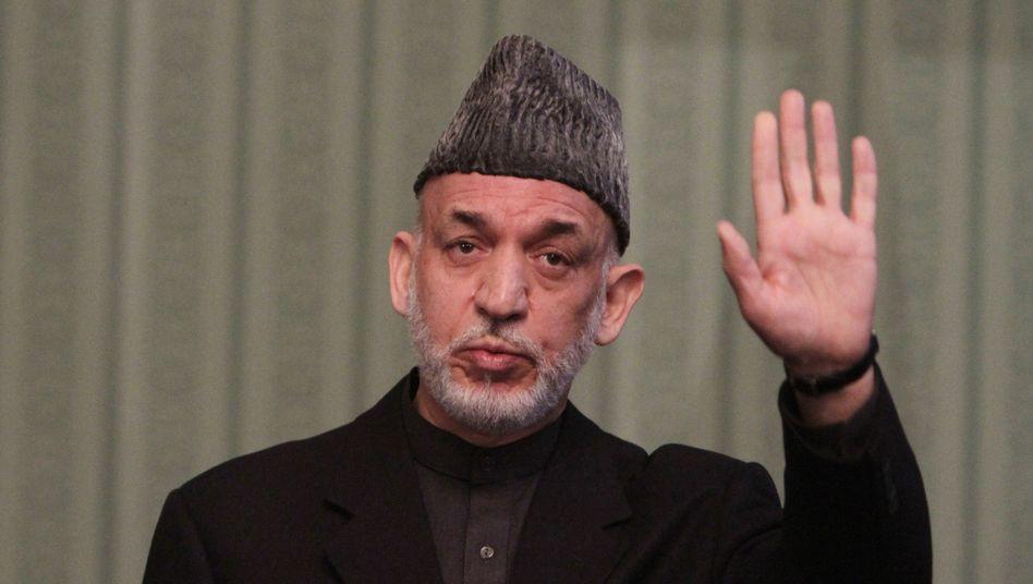 Afghanischer Präsident Karzai: Seine Ministerien sind offenbar überfordert