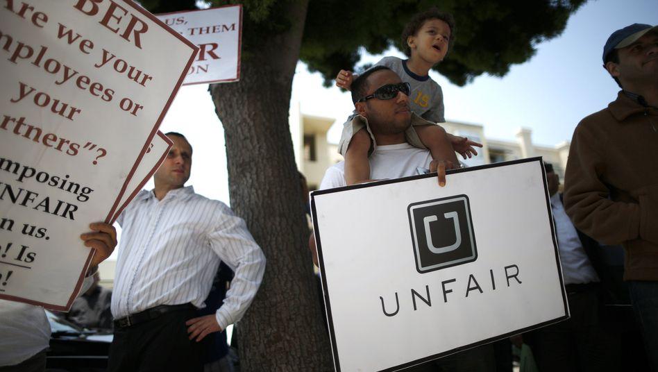 Protest gegen Uber in Kalifornien: Das Unternehmen geht in Berufung