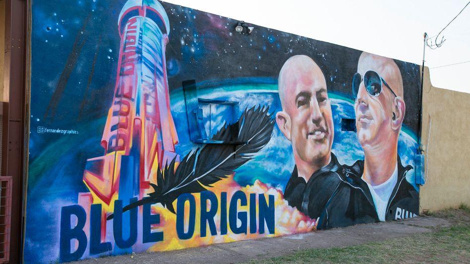 Graffito mit Bezos im texanischen Van Horn