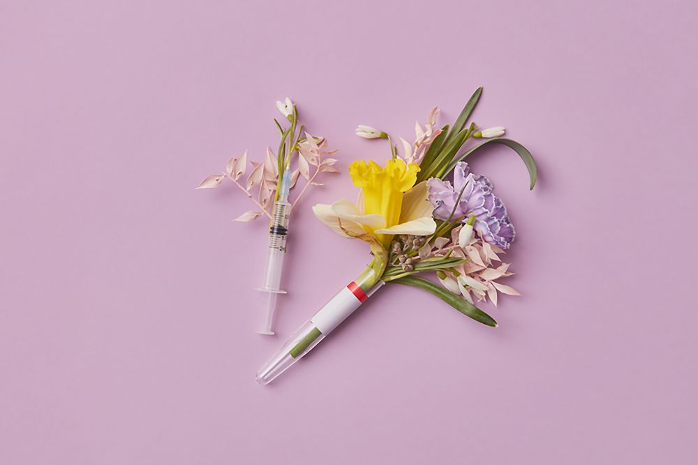 Flowers And Syringe