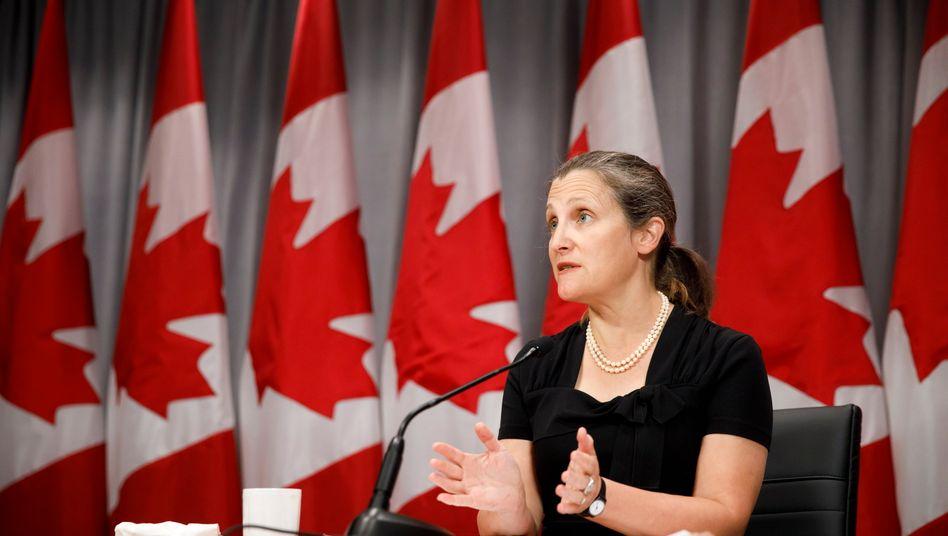 """Kanadas stellvertretende Premierministerin Chrystia Freeland: """"Wir werden nicht eskalieren und wir werden nicht zurückstecken"""""""
