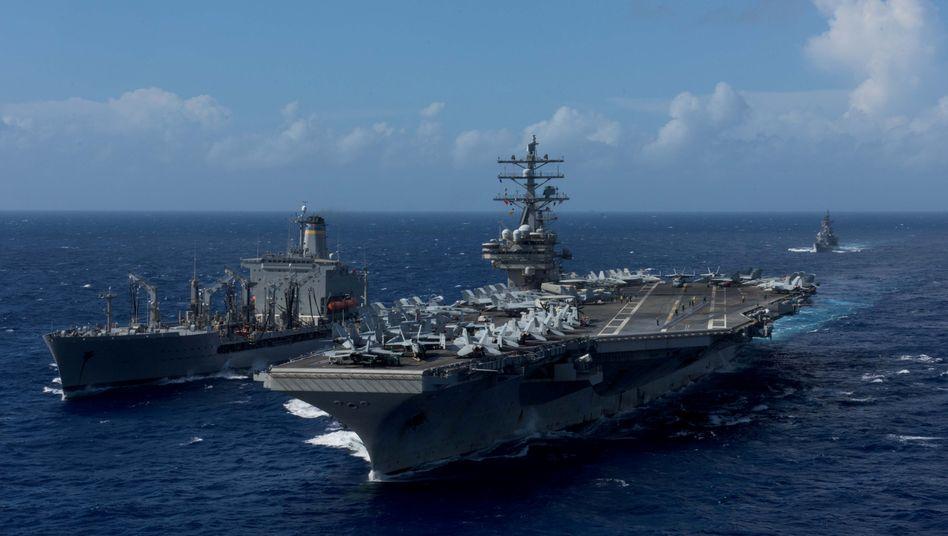 """USS """"Ronald Reagan""""(im Oktober 2017)"""