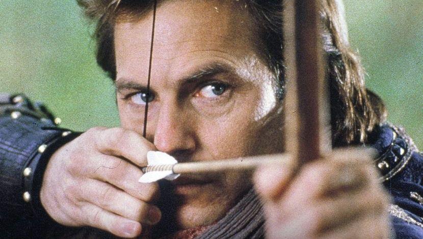 Schauspieler Kevin Costner in »Robin Hood – König der Diebe«, 1991