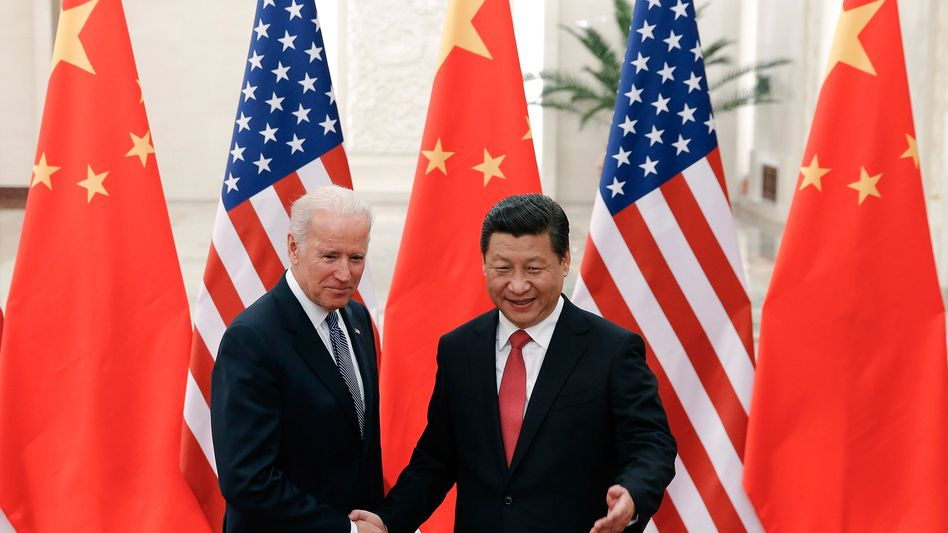 Joe Biden und Xi Jinping (im Dezember 2013 in Peking)
