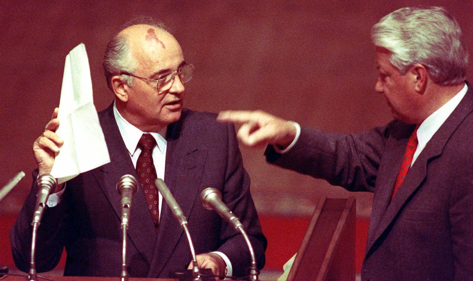 Michail Gorbatschow/ Boris Jelzin