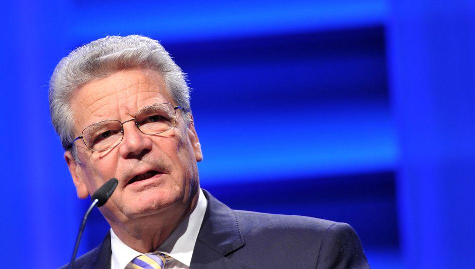 Bundespräsident Gauck (Archivbild): Hohes Honorar für einen Auftritt in Bochum