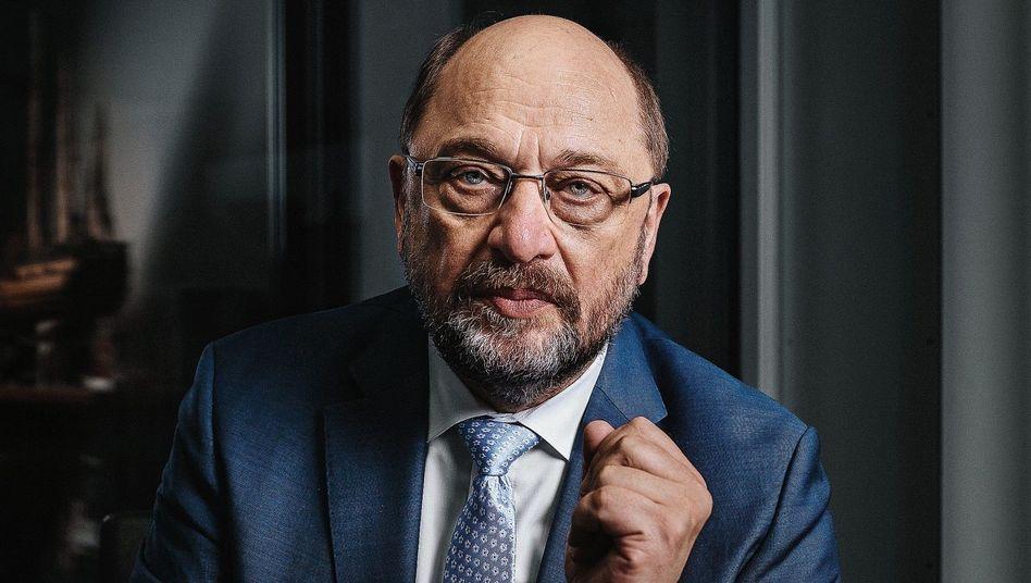 SPD-Politiker Schulz:»Bei Angela Merkel wird Umfallen als epochale Weitsicht interpretiert«