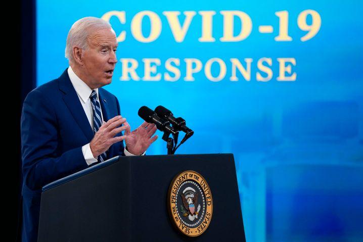 US-Präsident Joe Biden: Großangelegte Impfkampagne läuft