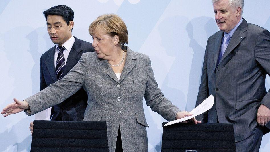 Rösler, Merkel, Seehofer