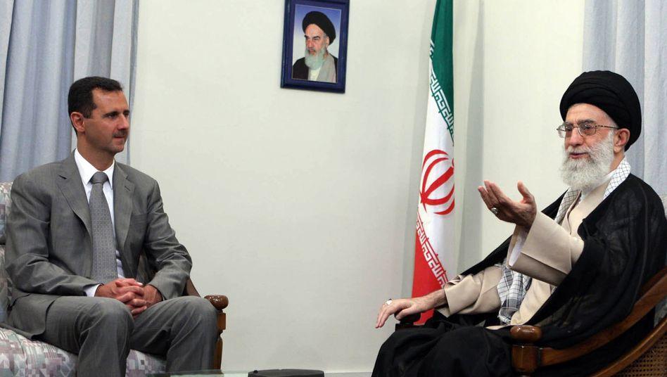 Syriens Präsident Assad, Irans Ajatollah Chamenei: Massive Unterstützung durch Teheran