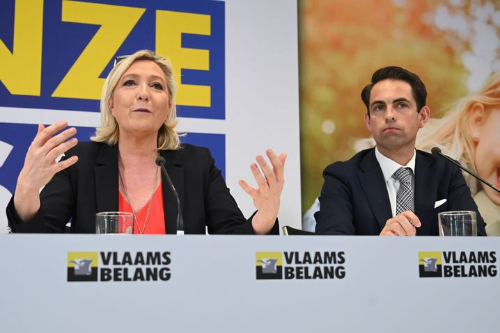 "Marine Le Pen, Tom Van Grieken: ""Wenn Herr Orbán zu uns kommt, umso besser"""