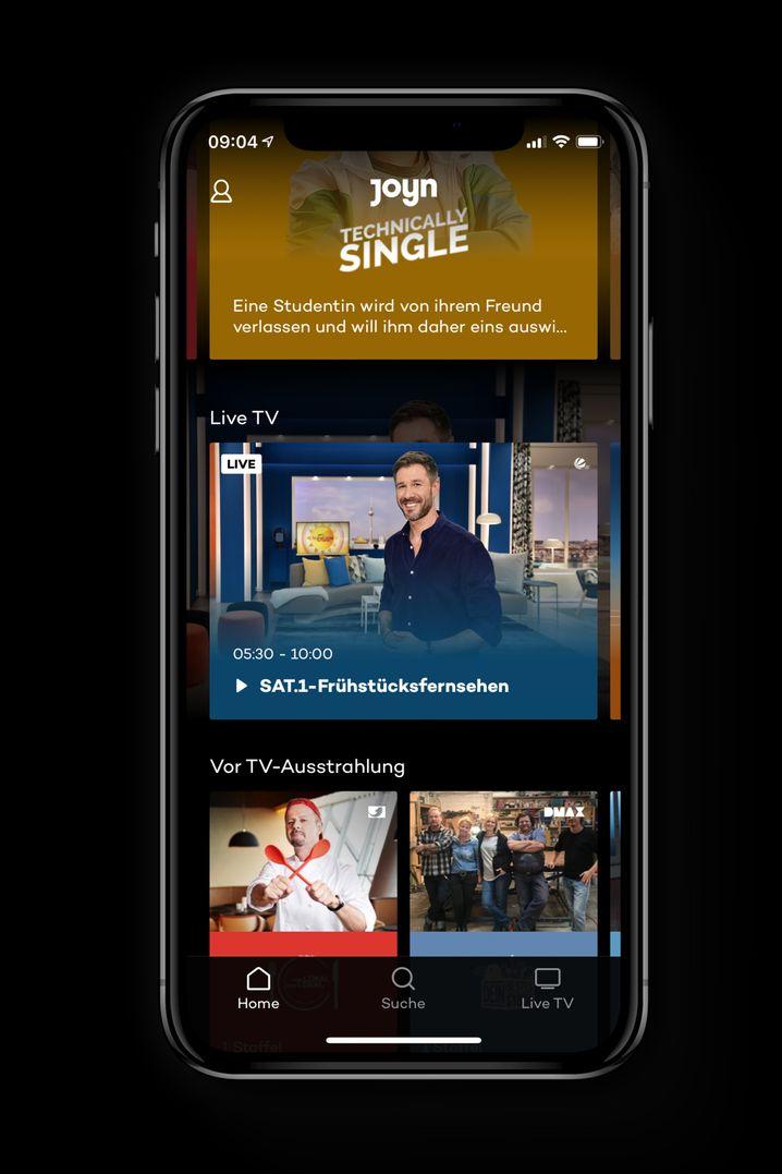 Inhalte auf Abruf und Live-TV: Die App-Variante von Joyn