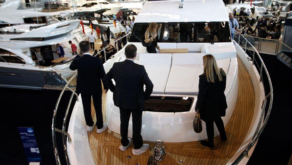 Bootsmesse in Düsseldorf: In Deutschland ist Reichtum besonders ungleich verteilt