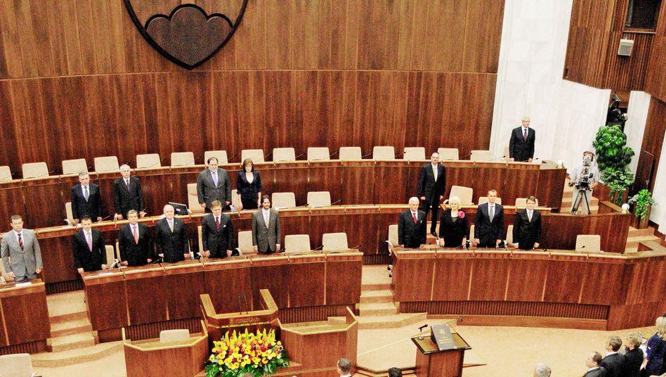 Slowakisches Parlament (Archivbild): Abstimmung nochmals zu einem späteren Zeitpunkt?