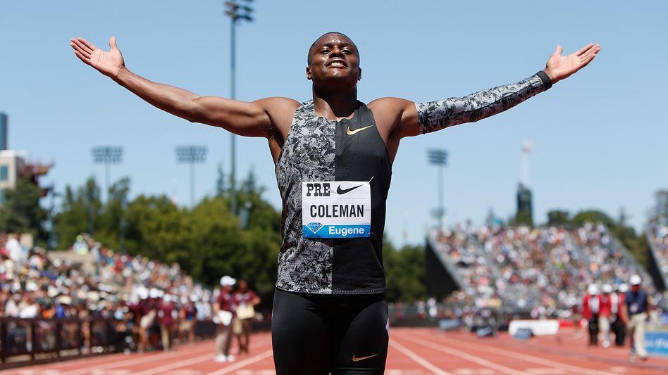 Der derzeit schnellste Läufer auf 100 Meter: Christian Coleman im Juni 2019