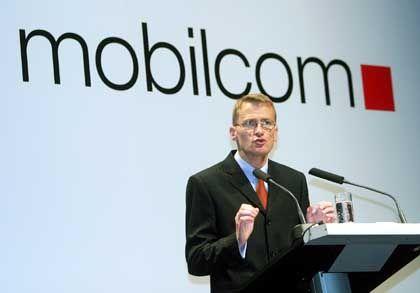 Hofft auf UMTS-Milliarden: Mobilcom-Chef Grenz