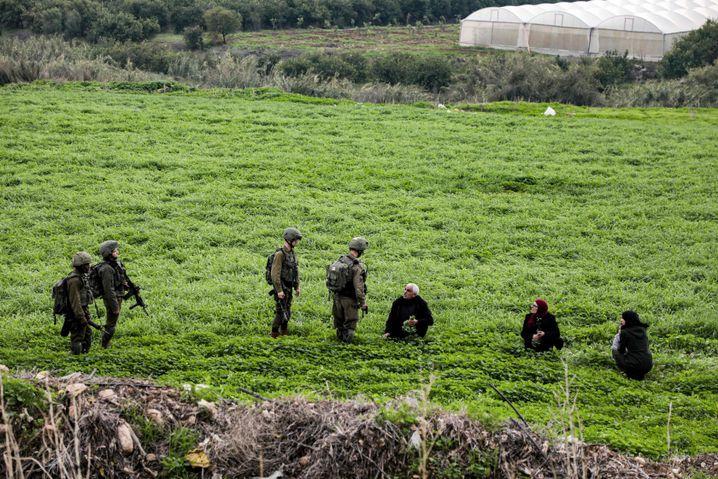 Israelische Patrouille im besetzten Jordantal, laut Trump-Plan würde es offiziell israelisches Staatsgebiet