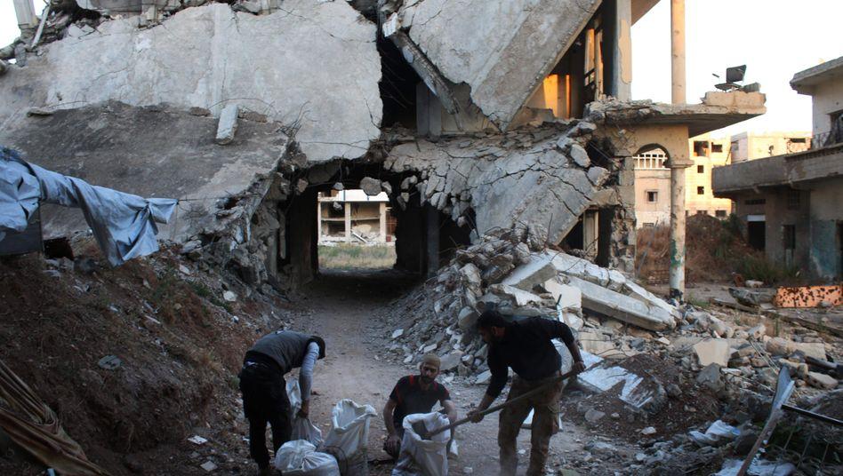 Zerstörung in Daraa