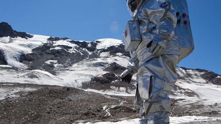 Üben für den Mars: Im Raumanzug auf dem Gletscher