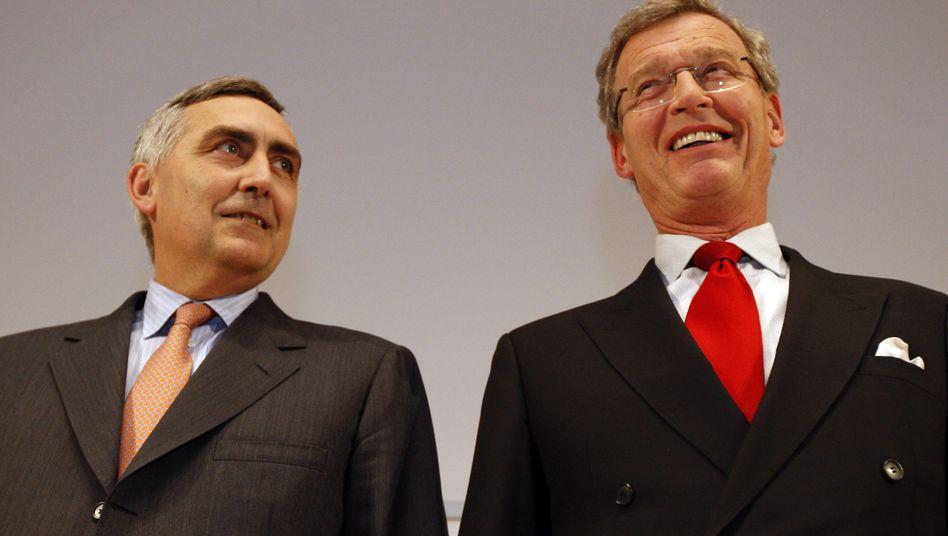 """Mitunterzeichner Löscher, Initiator Cromme (Archivbild): """"Ein Scheitern des Euro wäre fatal"""""""