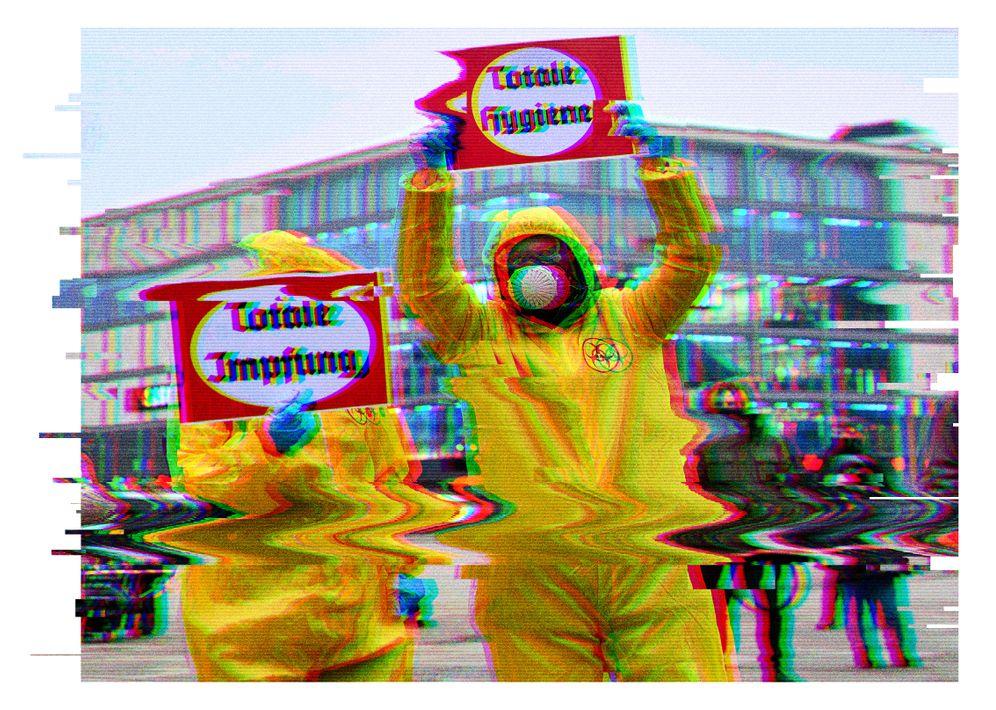 Demonstration von Gegnern der Coronamaßnahmen in Berlin
