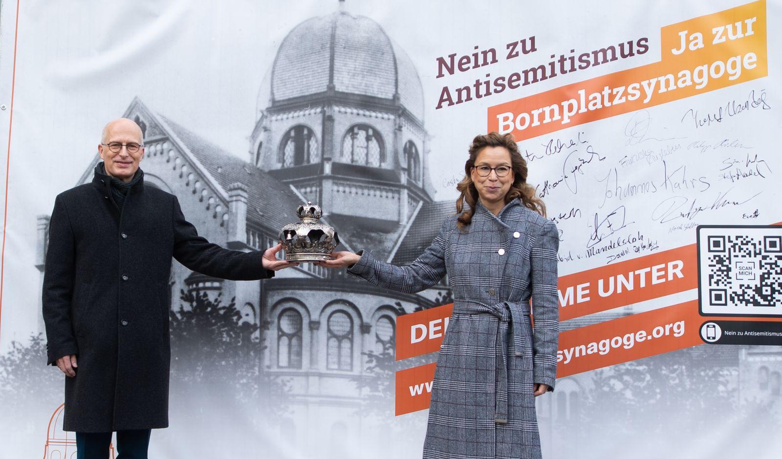 """Kampagne ??""""Nein zu Antisemitismus. Ja zur Bornplatzsynagoge""""??"""