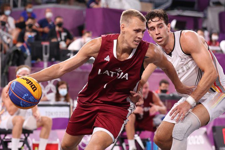 Lauris Miezis vom lettischen 3x3-Basketballteam