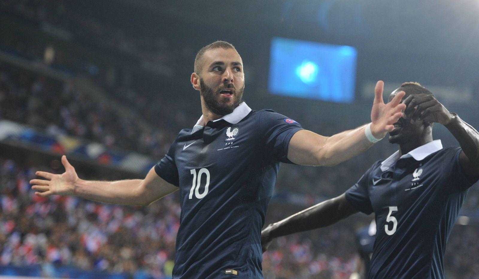 Nice France 8th October 2015 International Friendly Länderspiel France vs Armenia Karim Benzema cel