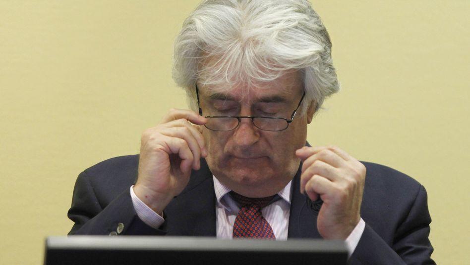 Radovan Karadzic vor dem Uno-Tribunal in Den Haag: Anklage wegen Völkermordes