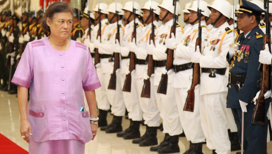 Thailands Prinzessin Maha Chakri Sirindhorn in Kambodscha: Eine besondere Toilette