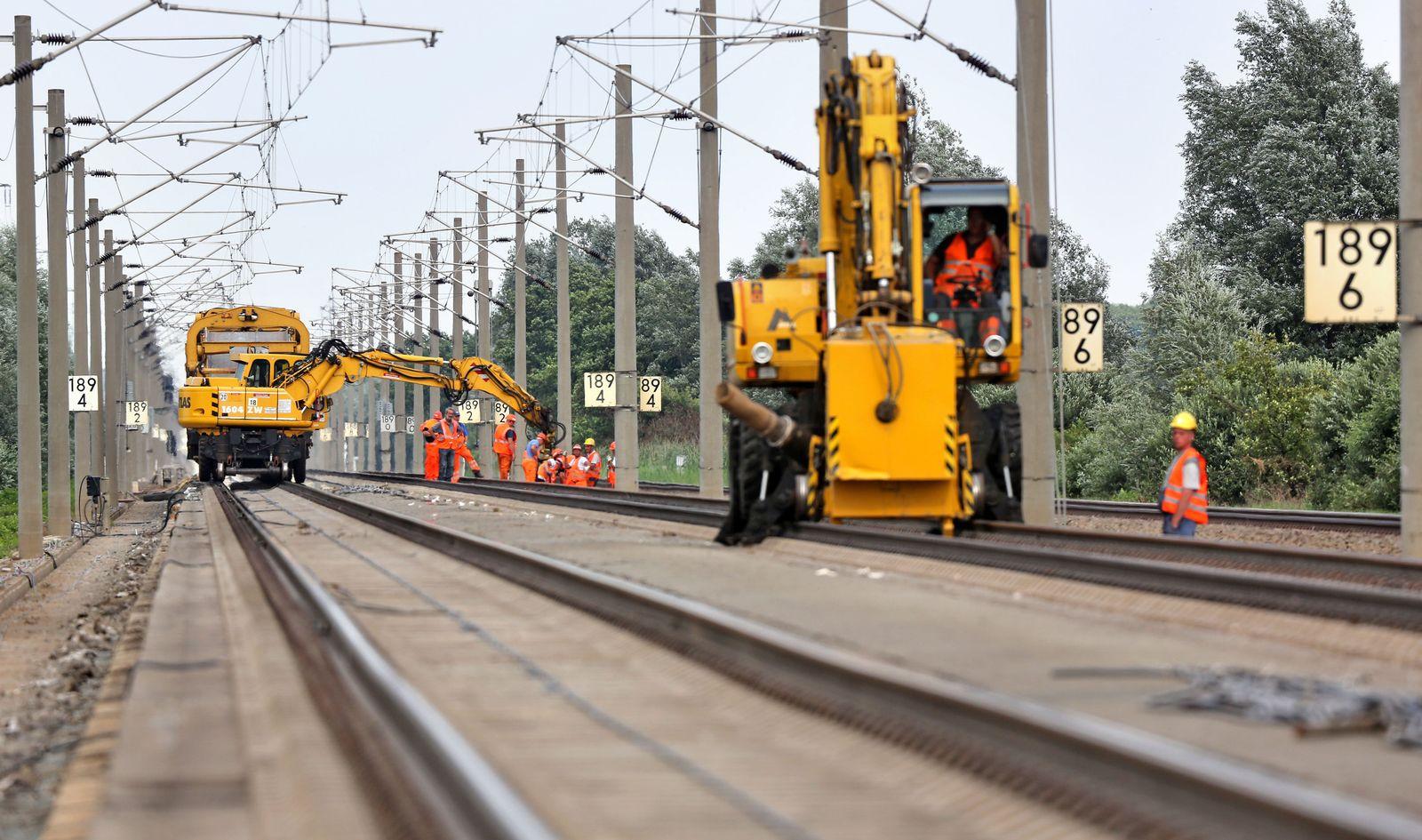 Bauarbeiten an ICE-Strecke Hannover-Berlin