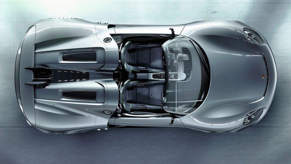 Hybrid-Sportwagen Porsche 918 Spyder (Computergrafik)