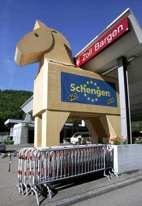 Protest gegen Schengen-Abkommen: Europa als Trojanisches Pferd