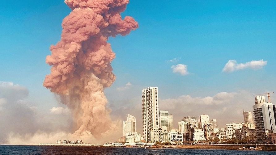 Detonation im Hafen von Beirut