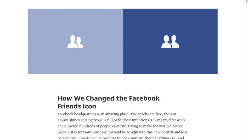 Freundschaftssymbol bei Facebook: Links das alte, rechts das neue Symbol