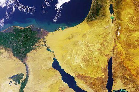 Nildelta inÄgypten: Energie gewinnen aus Konzentrationsunterschieden