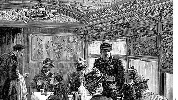 Bordrestaurant der Deutschen Bahn: Historische Pracht