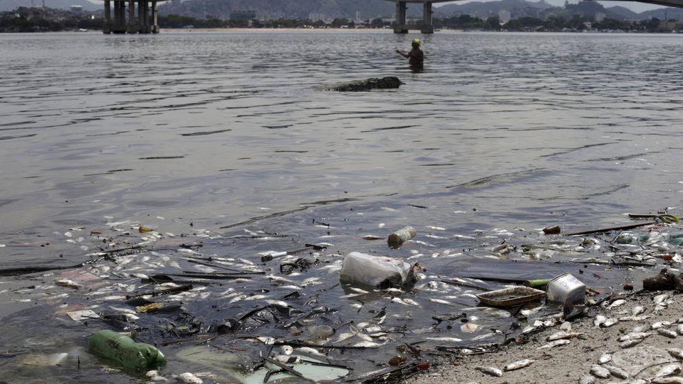 Verschmutzte Guanabara Bay: So viel Dreck