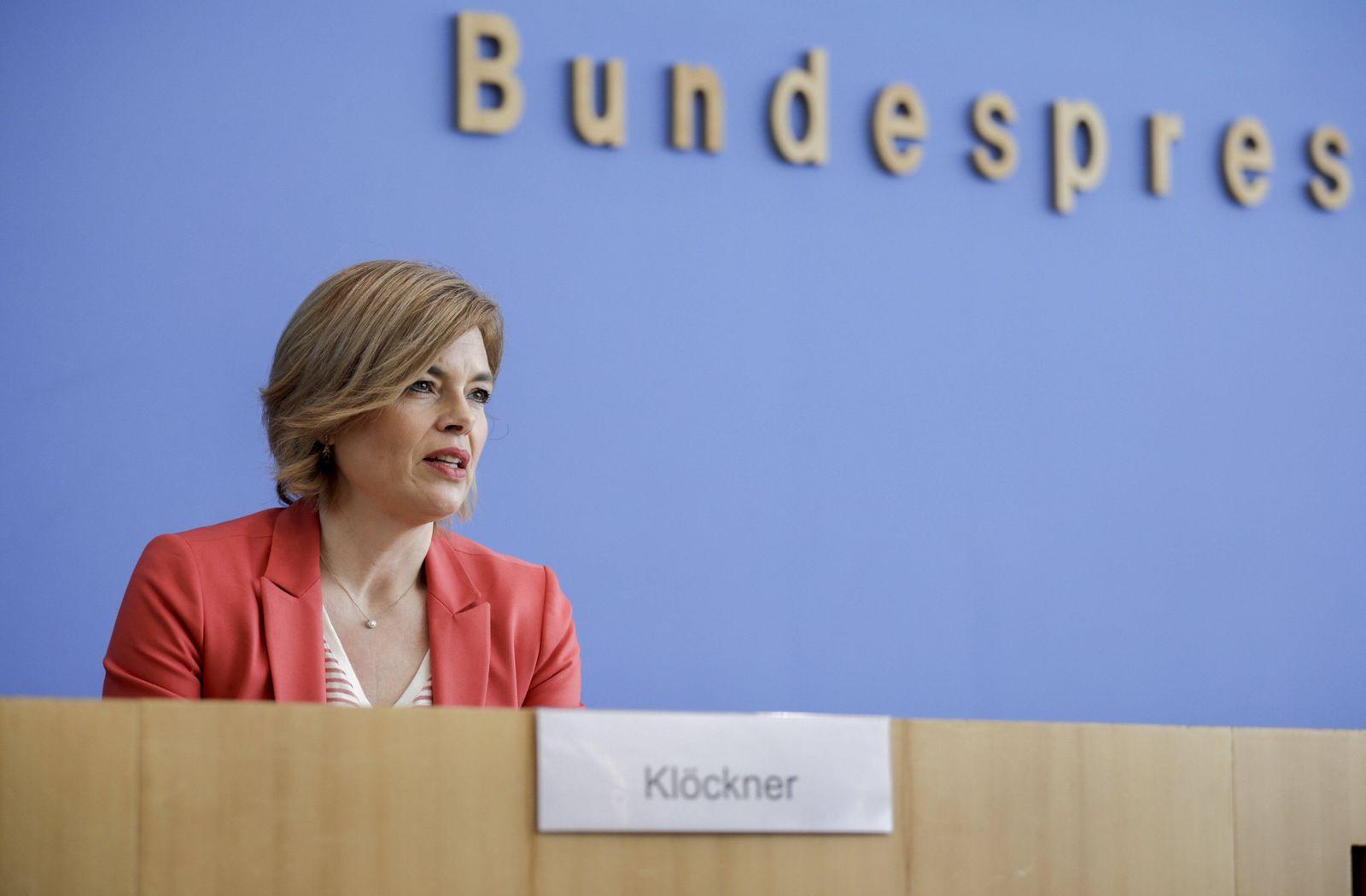 Bundeslandwirtschaftsministerin Julia Kloeckner, CDU, in der Bundespressekonferenz. Berlin 17.03.2020 Berlin Deutschland