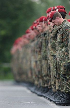 German troops operate around the world -- but not within Germany.