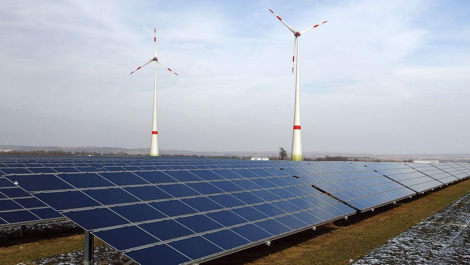 Solaranlage mit Windrädern bei Mainz: Preissteigerung bis 100 Euro