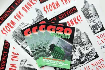"""A flyer for the anti-G-20 """"Party in the City."""""""