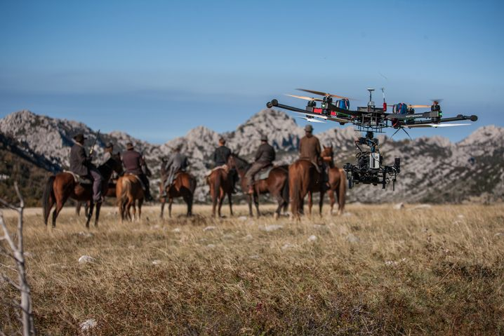 """Drohne bei """"Winnetou""""-Filmaufnahmen in Kroatien: Kulissen für die Ewigkeit"""