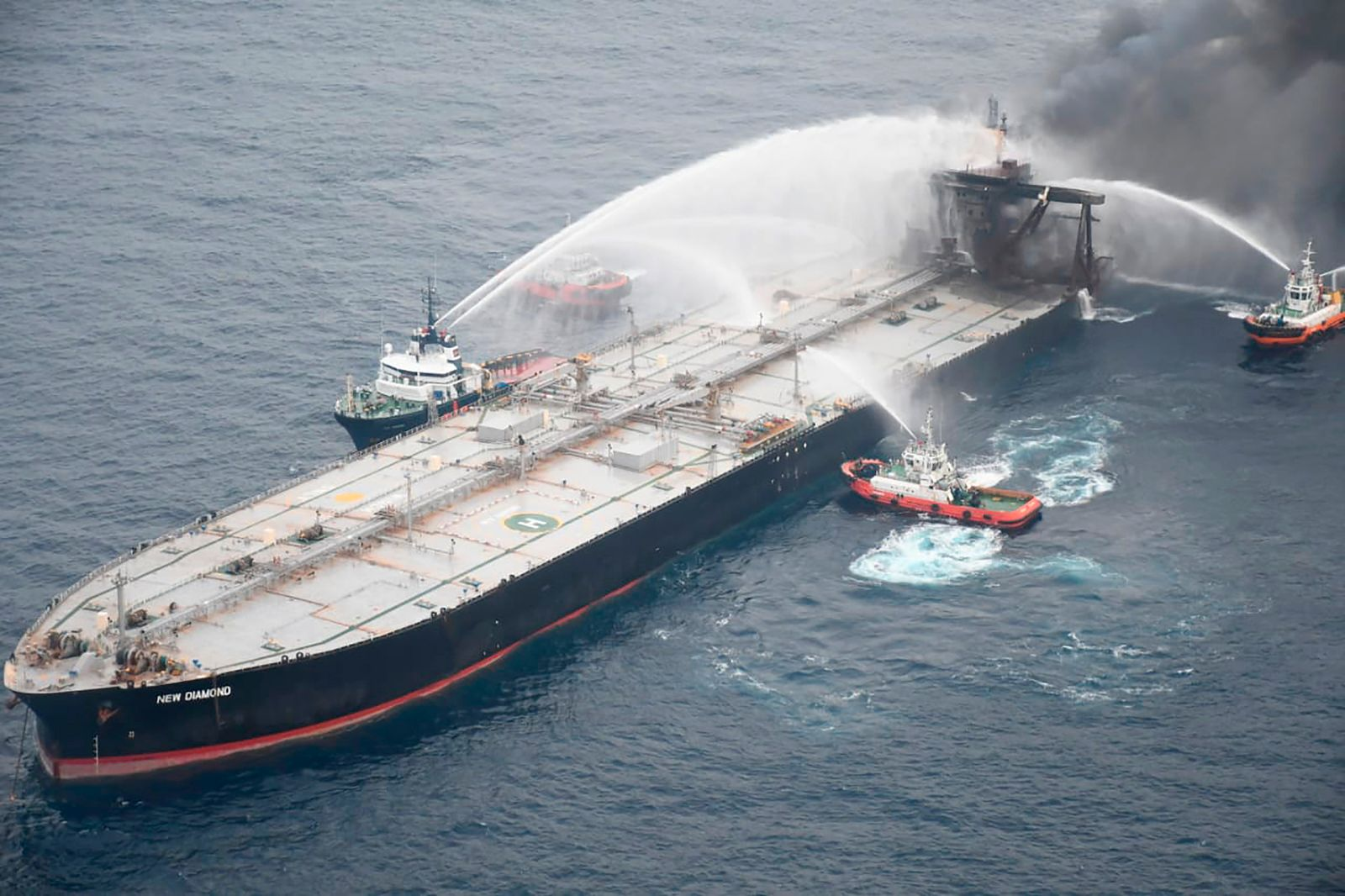 Brand auf Öltanker vor Sri Lanka