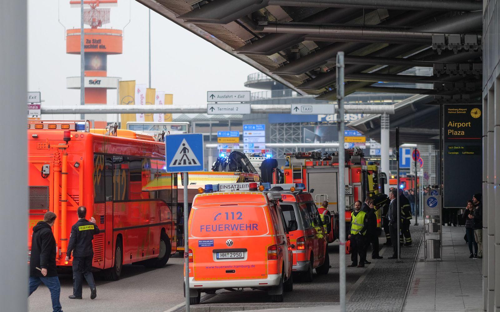 Großeinsatz am Hamburger Flughafen
